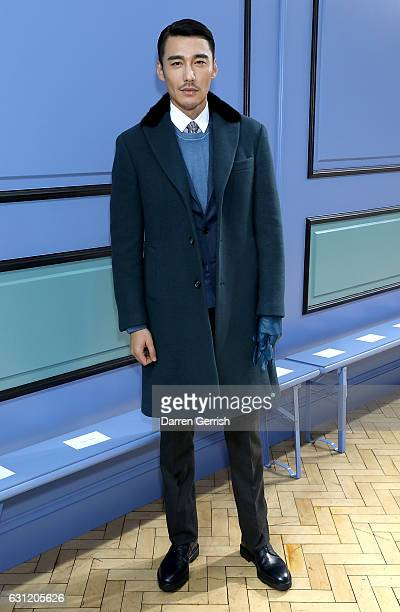 Hu Bing attends the JW Anderson show during London Fashion Week Men's January 2017 collections at Yeomanry House on January 8 2017 in London England