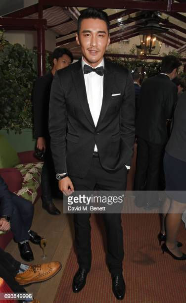 Hu Bing attends the London Fashion Week Men's 5th Anniversary party and the launch of 'London Sartorial Men's Style from Street To Bespoke' by Dylan...