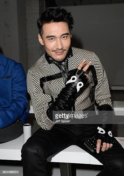 Hu Bing attends the SEAN SUEN Presented By GQ China show during The London Collections Men AW16 at Victoria House on January 11 2016 in London England