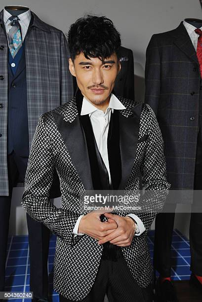 Hu Bing attends the Turnbull Asser presentation during The London Collections Men AW16 on January 10 2016 in London England
