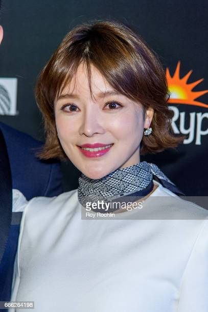 Hu Die attends Disneynature with the Cinema Society host the premiere of 'Born in China' at Landmark Sunshine Cinema on April 8 2017 in New York City