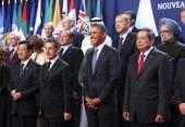 Hu Jintao China's president Nicolas Sarkozy France's president US President Barack Obama and Susilo Bambang Yudhoyono Indonesia's president join...
