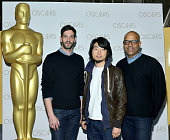 Hu Wei Julien Feret and Patrick Harrison attend The 2014 Academy AwardNominated Short Films on February 14 2015 in New York City