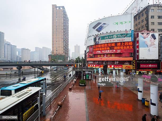 Huang Xing Road in Changsha, China