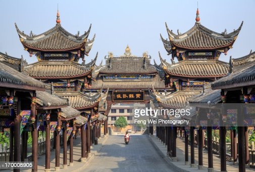 Huanglongxi Ancient Town, Sichuan China
