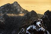 Huangshan mountain in winter season