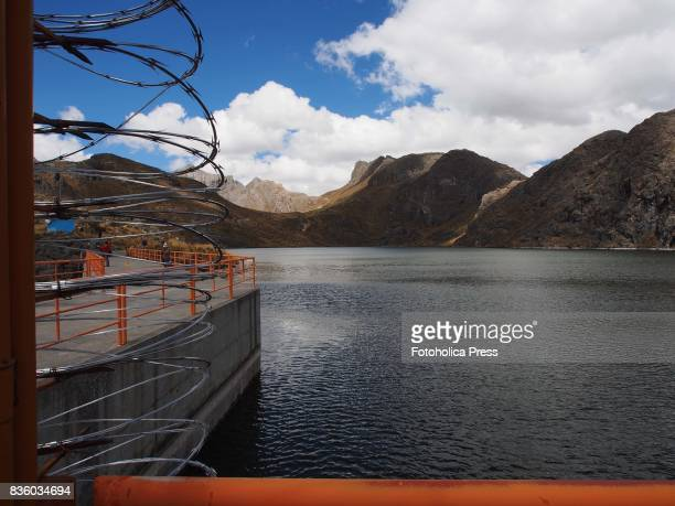 DAM MARCAPOMACOCHA JUNIN PERU Huascacocha dam at Marcapomacocha lake The Lima Water and Sewerage Service organized a tour of its facilities 'By the...