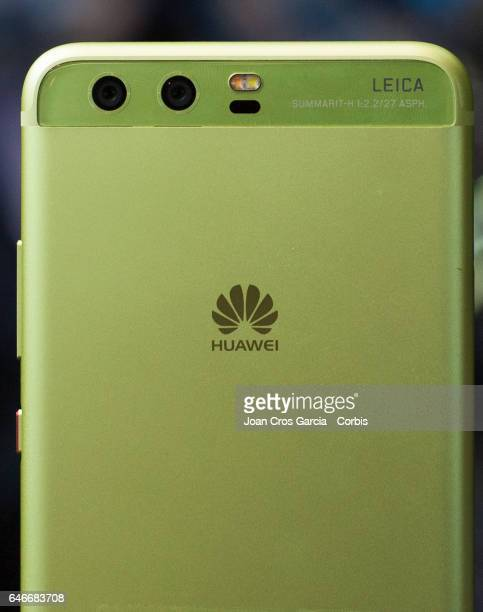 Huawei display the new Huawei P10 with 2 rear Leica cameras during the Mobile World Congress on February 28 2017 in Barcelona Spain
