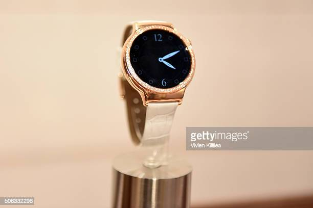 Huawei watches on display at Kari Feinstein's Style Lounge on January 22 2016 in Park City Utah