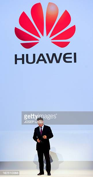Huawei's Consumer Business Group Chief Executive Officer Richard Yu gives a press conference to present his company's new smartphone 'Ascend P2' in...