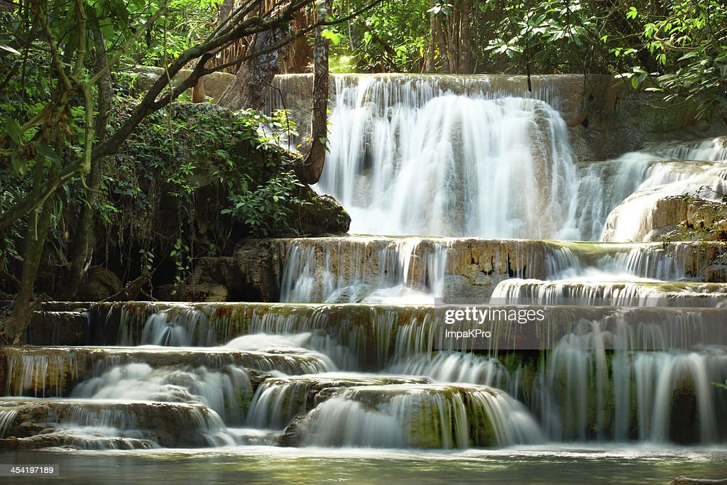 Huay mae kamin waterfall : Stock Photo