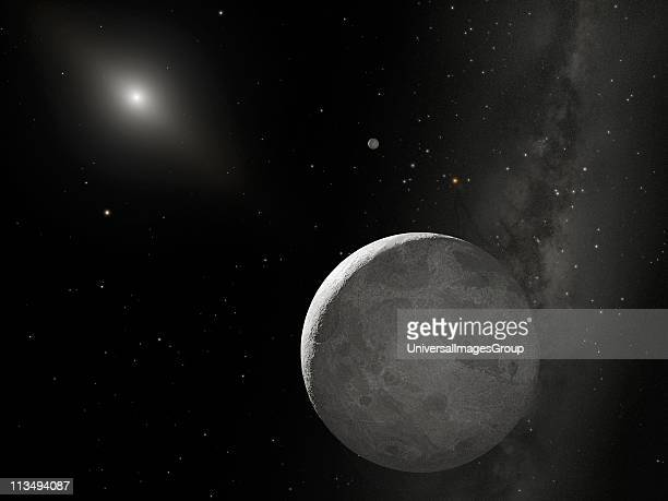 Hubble Space Telescope the tenth planet currently nicknamed Xena and found that it's only slightly larger than Pluto