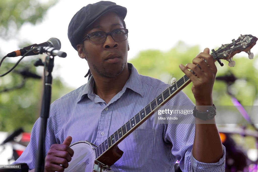 Hubby Jenkins of Carolina Chocolate Drops performs on stage during day 3 of the BottleRock music Festival on May 11, 2013 in Napa, California.