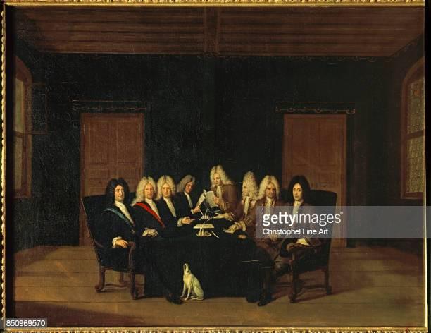 Huber Johann Rudolf The Emissaries of the Peace Congress of Baden 7 September 1714 1714 Palace of Versailles
