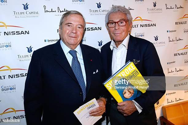 Hubert Guerrand Hermes and JeanDaniel Lorieux attend JeanDaniel Lorieux signs his Book 'Sunstroke' at the Art Bookshop of the 'Royal Monceau Raffles...