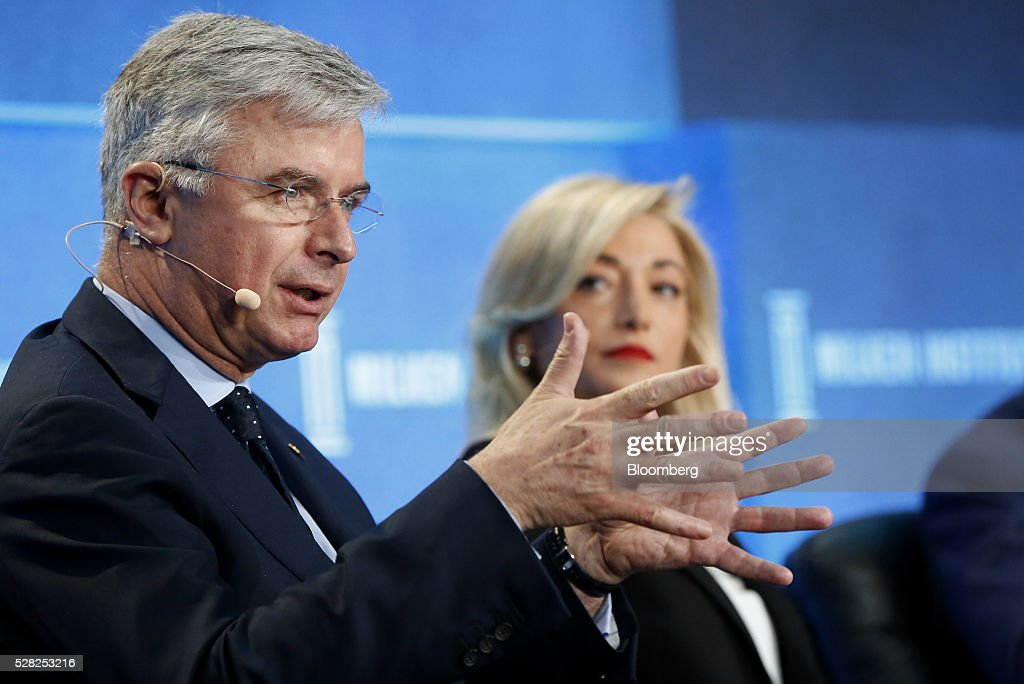 Hubert Joly, chairman and chief executive officer of Best Buy Co., speaks during the annual Milken Institute Global Conference in Beverly Hills , California, U.S., on Wednesday, May 4, 2016. The conference gathers attendees to explore solutions to today's most pressing challenges in financial markets, industry sectors, health, government and education. Photographer: Patrick T. Fallon/Bloomberg via Getty Images