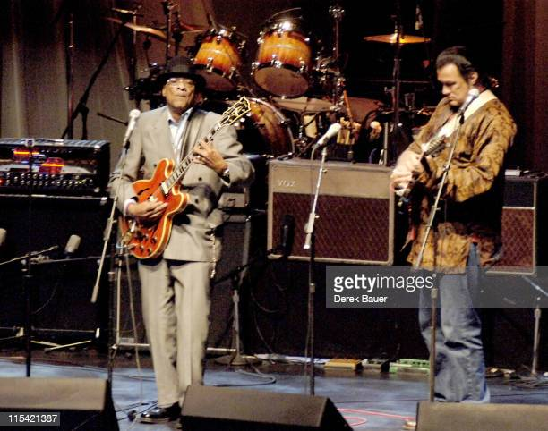 Hubert Sumlin and Steven Seagal during Les Paul and Friends in Concert at the Gibson Amphitheatre at Universal City Walk February 7 2006 at Gibson...