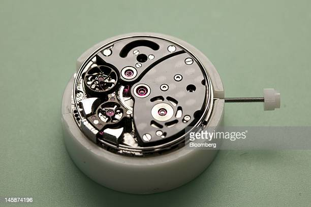 A Hublot SA Minute Repeater wristwatch is seen during assembly at the company's headquarters in Nyon Switzerland on Tuesday June 5 2012 Hublot SA...
