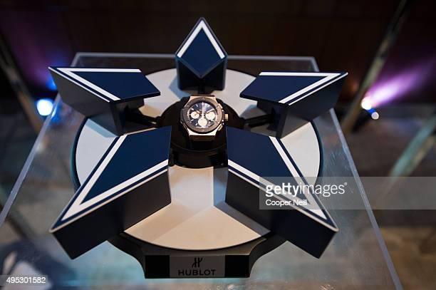 Hublot unveils the Big Bang Dallas Cowboys timepieces at ATT Stadium on November 1 2015 in Arlington Texas