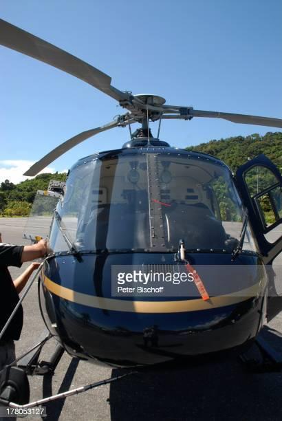 Hubschrauber während Dreharbeiten zum ARDFilm 'Wiedersehen in Malaysia' Awana Porta Malai Insel Langkawi Malaysia Asien Familiendrama Dreh...