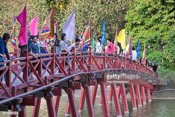 Huc Bridge, Hanoi, Vietnam