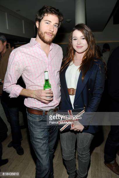 Hud Morgan and Nell Diamond attend SOHO HOUSE Super Bowl Party to Kick Off Fashion Week at Soho House on February 7 2010 in New York City