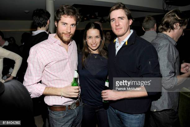 Hud Morgan Etta Meyer and Matthew Wilkin attend SOHO HOUSE Super Bowl Party to Kick Off Fashion Week at Soho House on February 7 2010 in New York City