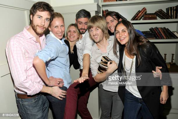 Hud Morgan Lauren Goodman Frances TulkHart Jeff Halmos Sam Shipley Darrell Hartman and Sabine Heller attend SOHO HOUSE Super Bowl Party to Kick Off...