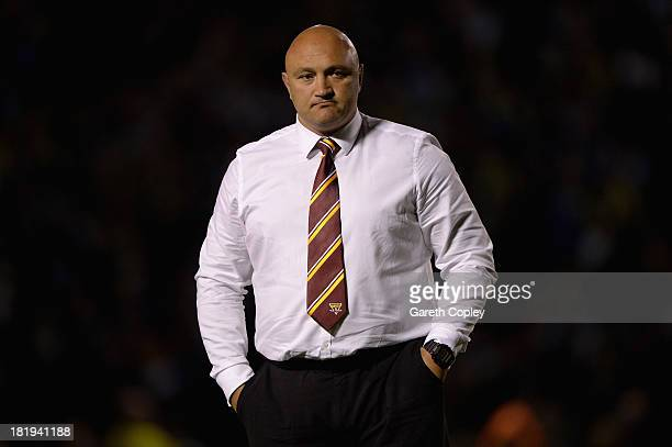 Huddersfield coach Paul Anderson after losing the Super League Qualifying Semi Final between Warrington Wolves and Huddersfield Giants at The...