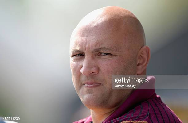 Huddersfield coach Paul Anderson during the Super League match between Huddersfield Giants and Wakefield Wildcats at John Smith's Stadium on April 21...