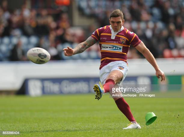 Huddersfield Giants' Danny Brough scores a conversion during the First Utility Super League match at The John Smith's Stadium Huddersfield