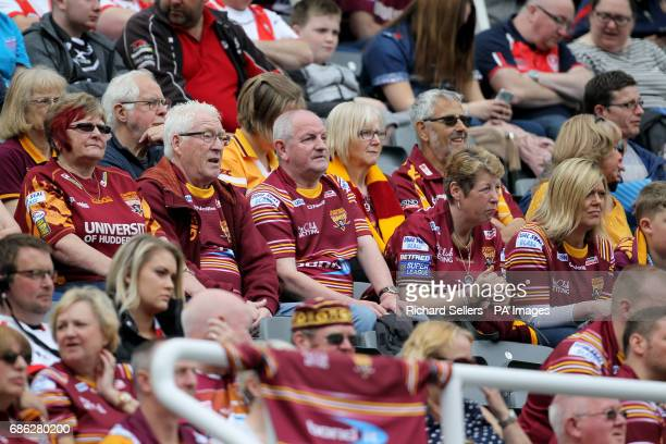 Huddersfield Giants fans during day two of the Betfred Super League Magic Weekend at St James' Park Newcastle