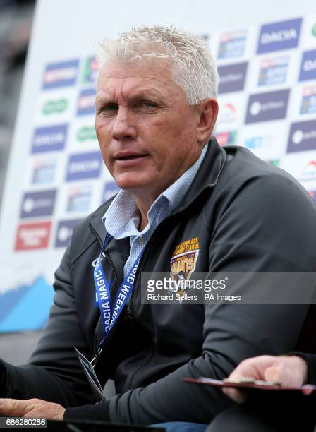 Huddersfield Giants head coach Rick Stone during day two of the Betfred Super League Magic Weekend at St James' Park Newcastle