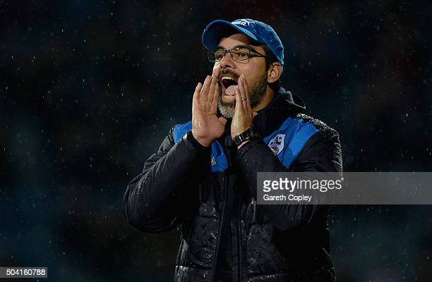 Huddersfield manager David Wagner during The Emirates FA Cup Third Round between Huddersfield Town and Reading at John Smiths Stadium on January 9...