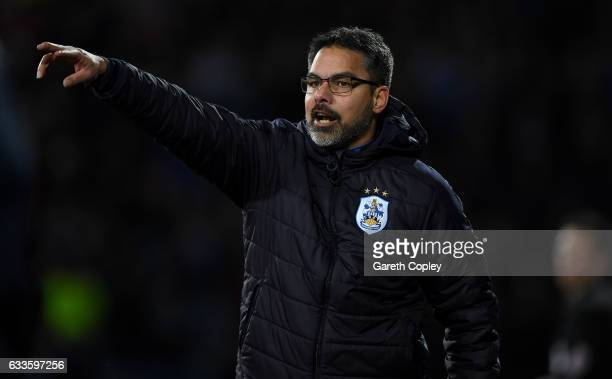 Huddersfield manager David Wagner during the Sky Bet Championship match between Huddersfield Town and Brighton Hove Albion at Galpharm Stadium on...