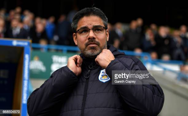 Huddersfield manager David Wagner during the Sky Bet Championship match between Huddersfield Town and Preston North End at Galpharm Stadium on April...