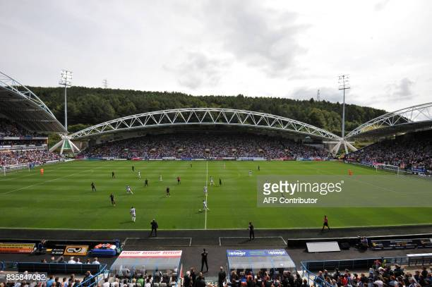 Huddersfield Town and Newcastle United players are pictured during the English Premier League football match between Huddersfield Town and Newcastle...