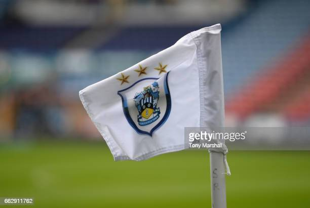 Huddersfield Town corner flag at the John Smith's Stadium before the Sky Bet Championship match between Huddersfield Town and Burton Albion at the...