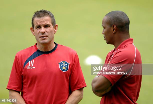 Huddersfield Town Goalkeeper Coach John Vaughan and Milton Keynes Dons manager Paul Ince