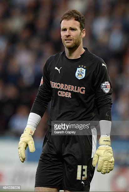 Huddersfield Town goalkeeper Joe Murphy during the Capital One Cup Second Round match between Huddersfield Town and Nottingham Forest at Galpharm...