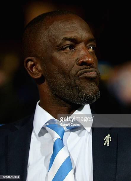Huddersfield Town manager Chris Powell during the Sky Bet Championship match between Huddersfield Town and Nottingham Forest at John Smiths Stadium...