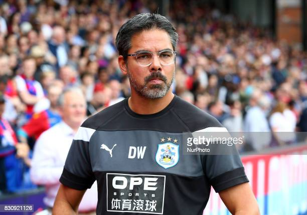 Huddersfield Town manager David Wagner during Premier League match between Crystal Palace and Huddersfield Town at Selhurst Park Stadium London...