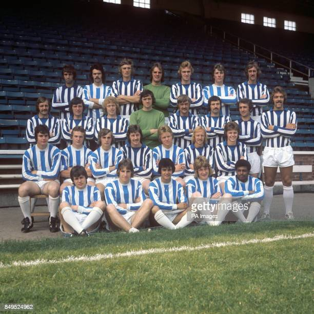 Huddersfield Town squad for the 1975/76 season Rod Belfitt unknown John Saunders Dick Taylor Bobby Campbell unknown and Terry Dolan Barry Endean...