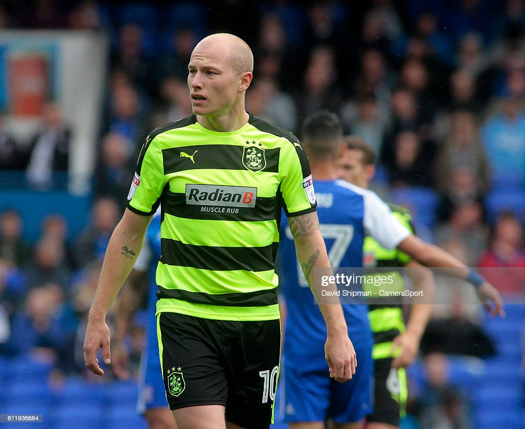 Huddersfield Town's Aaron Mooy in action during todays match during the Sky Bet Championship match between Ipswich Town and Huddersfield Town at Portman Road on October 1, 2016 in Ipswich, England.