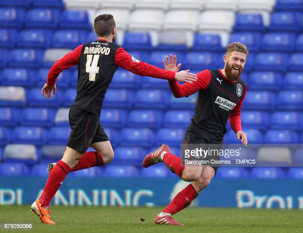 Huddersfield Town's Adam Clayton celebrates scoring the 2nd goal against Birmingham City with team mate Oliver Norwood
