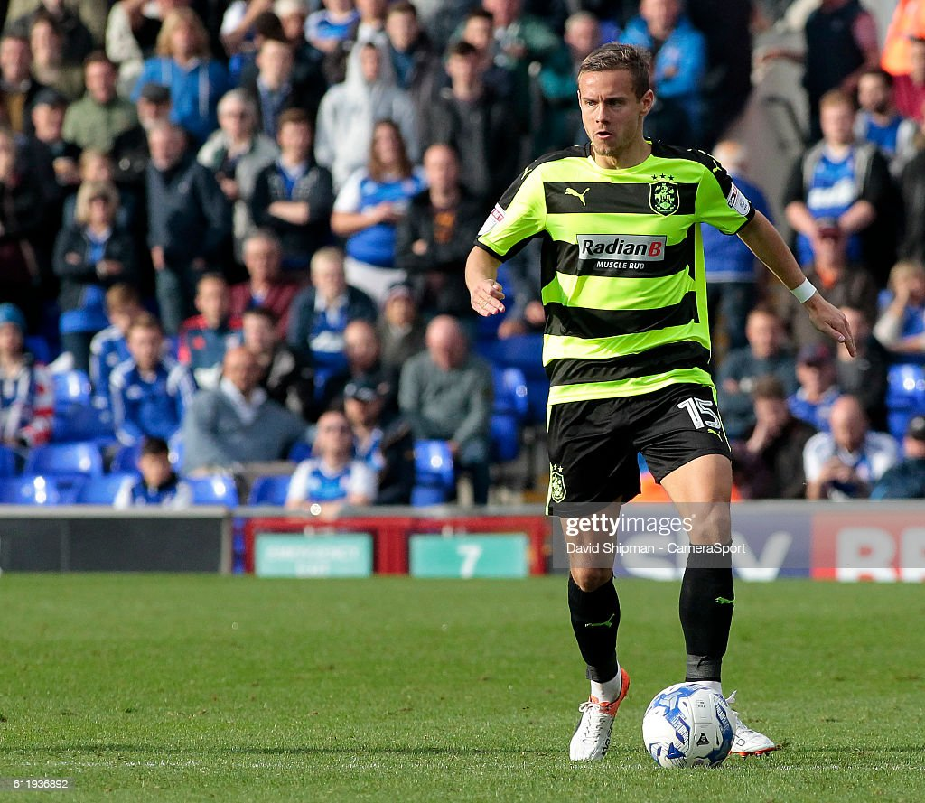 Huddersfield Town's Chris Lowe in action during todays match during the Sky Bet Championship match between Ipswich Town and Huddersfield Town at Portman Road on October 1, 2016 in Ipswich, England.