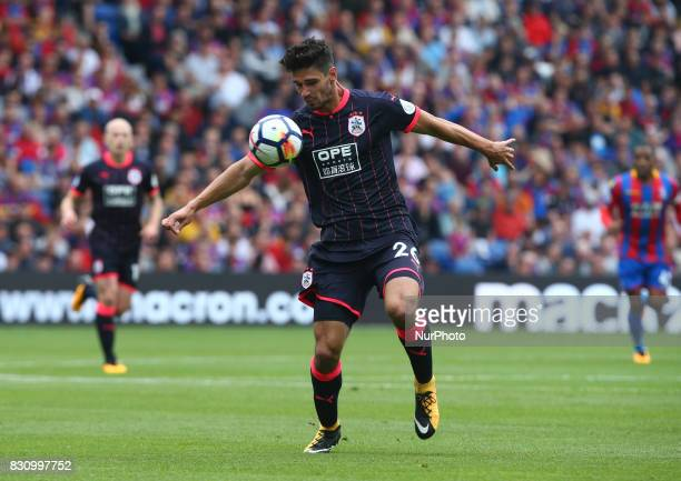 Huddersfield Town's Christopher Schindler during Premier League match between Crystal Palace and Huddersfield Town at Selhurst Park Stadium London...