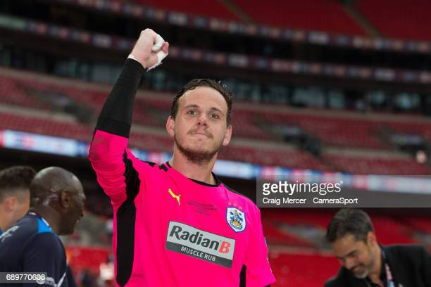 Huddersfield Town's Danny Ward celebrates after the EFL Sky Bet Championship PlayOff Final match between Huddersfield Town and Reading at Wembley...