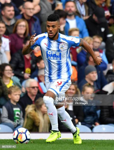 Huddersfield Town's Elias Kachunga during the Premier League match at Turf Moor Burnley