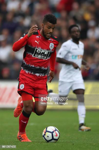 Huddersfield Town's Elias Kachunga during the Premier League match at the Liberty Stadium Swansea